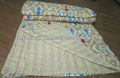 Nuevo diseño más reciente modelo de kantha hechos a mano ikat edredones/cobijas imprimir edredones/cobijas kantha