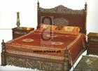 Pakistani Carved Solid Wooden Bedroom Set