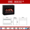 ADL-2000M-U33/W big insert dector flame Eelectric Fireplace