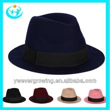 hot sale fashion decorated black lace fedora hat