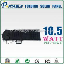 high efficiency fabric folding solar panel for Ipad, mobile phone