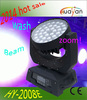 New dmx 16 channels DJ lighting zoom wash moving head 36*10w led light import