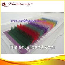 New arrival hot sale fiber rainbow colorful popular faux mink eyelash extensions