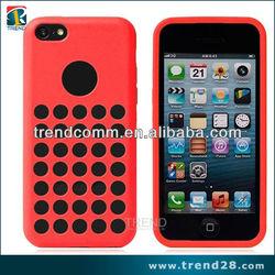 new product logo hole design tpu case wholesale for iphone 5c custom back cover case
