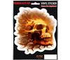 SKULL FLAMES - car sticker