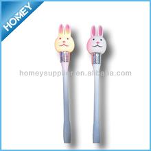 Cute rabit shape LED pen for Easter idea for promotion