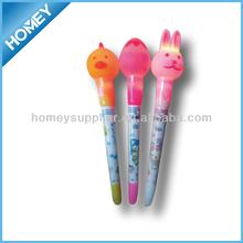 Cute Easter rabit shape LED light pen for kids