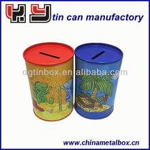 Promotional Customized Round Tin Saving Money Box