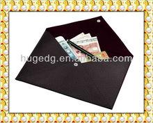 2014 new design leather office file folder ,document holder,file pouch for paper&pen&money
