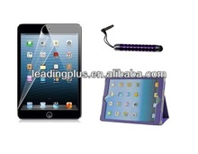 Factory Price High Quality 3 in 1 Clear Screen Protector Touch Pen Leather Case for New iPad Air(5Gen)