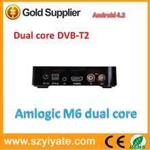 Hot selling Android 4.2.2 MX dual core 1.5Ghz DVB-T2 tv box, 1GB 8GB,HDMI,AV,wifi Smart tv box