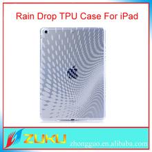 2014 Hottest Rain Drop clear case, for ipad air tpu cover