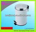 20l color blanco del pedal de acero inoxidable cubo de basura producto eco amigable