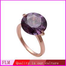 2014 latest design of elegant simple keepsake wedding rings of 18k rose gold jewelry for woman FPR243