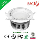 24w Popular Indoor SMD5730 LED Downlights ceiling lights hole size 185mm