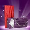 Leather bag clutch fashion crystal bag evening bag