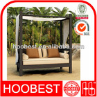 Bali day bed, Factory Manufacturer Direct Wholesale, Patio Rattan Wicker Outdoor Beach Canopy Day Lounger with Comfortable Cushi
