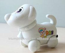 Plastic toy dog QQ dog toys pull animal toys