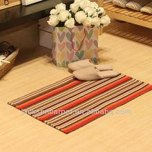 Machine Tufted rug with stripe pattern