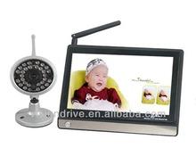 Digital Boy New High quality 7 inch TFT LCD Baby camera 2.4G A/V 4 Channel Wireless IR Night Vision monitor Drop Shipping