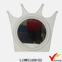 crown shaped wall deco ornamental wood mirrors