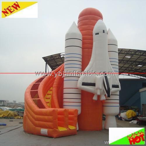 Rocket Water Slide Slide Bouncy Water Slide