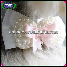 High Quality 100% Hand Made Pretty Adjustable Pet Dog Collars Dog Bow Ties