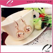 Fashion earrings Wholesale earrings jewelry alloy pictures of rose gold earrings
