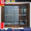 Winow/com porta de segurança de malha china guanghou fabricante de alumínio compósito de madeira janelas e portas