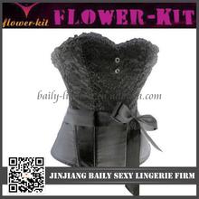 Hot sale open hot sex women photo corset black lace strapless corset