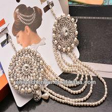 Novo design de indiano cocar de casamento para senhoras / indiano headdresses venda em yiwu