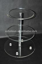 acrylic 3 layer cake display stand