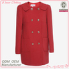 High quality beautiful ladies fashion winter red coats