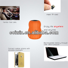 2014new trend mini portable pumpkin bluetooth speaker with low price orange/brown/green/blue fit for mp3/ipod/laptop/DVD/PC
