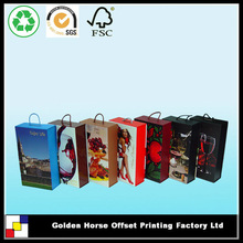 Handle Wine Packaging Box For Bottle Carrier,Luxury Wine Packaging,Wine Packaging Box