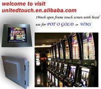 LCD TV USB AV TV MPG4 pog wms game touch lcd monitor
