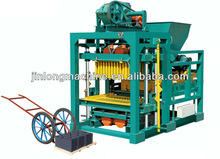 QT4-30 hollow cement block making machine for small family to make money