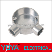 20mm,25mm die-casting Aluminum BS31/BS4568 Conduit Circular Junction box wo way,angle way