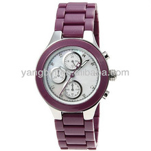 2014 wholesale energy waterproof vogue watches(purple)