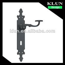 Cheap iron plate door handle ,wood door handle No.F9253-Z253