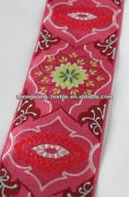 Pink Brocade Pattern Jacquard Ribbon Trim