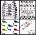 316l bijoux en acier inoxydable anneaux du ventre nombril anneau touche