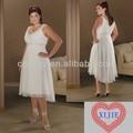 Extra grande vestido de noiva curto 2013 venda quente --- SZ025