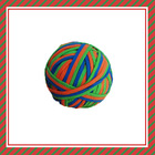 pet toys rubber band ball/cutomised frosted surface colorful rubber band ball/