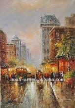 Handmade Impressionist Paris Street Oil Painting