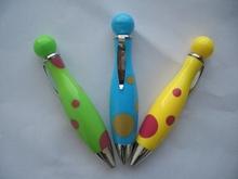 metal clip multi-color jumbo short ball pens for gift