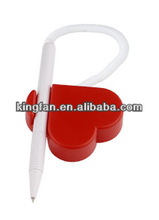 plastic promotional heart shaped table pens