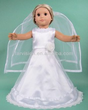 Wedding dress for dolls,beautiful white doll wedding dress