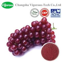 GMP factory grape skin extract/Resveratrol polyphenols powder/grape skin p.e.