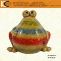 """Colorido de grasa 10"""" jardín de cerámica rana estatua decorativa"""